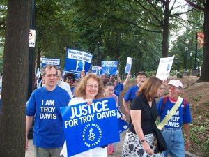 """We are Troy Davis"" was the motto of the parade organized by Amnesty International"