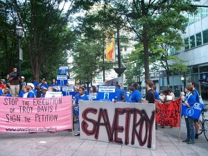 Amnesy International marching against Davis's execution in Atlanta, GA.